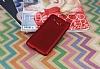 Samsung Galaxy Grand Prime / Prime Plus Mat Kırmızı Silikon Kılıf - Resim 1