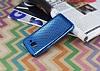 Samsung Galaxy Grand Prime / Prime Plus Noktalı Metalik Mavi Silikon Kılıf - Resim 1