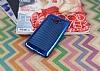 Samsung Galaxy Grand Prime / Prime Plus Noktalı Metalik Mavi Silikon Kılıf - Resim 2