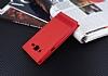 Samsung Galaxy J2 Çift Pencereli İnce Kapaklı Kırmızı Kılıf - Resim 2