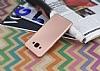 Samsung Galaxy J3 Pro Mat Rose Gold Silikon Kılıf - Resim 2
