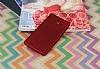 Samsung Galaxy J3 Pro Mat Kırmızı Silikon Kılıf - Resim 1