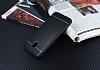 Samsung Galaxy J3 2017 Silikon Kenarlı Metal Siyah Kılıf - Resim 1