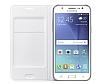 Samsung Galaxy J5 Orjinal Flip Wallet Beyaz Kılıf - Resim 1