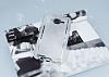 Samsung Galaxy J5 Şeffaf Beyaz Simli Silikon Kılıf - Resim 1