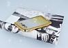 Samsung Galaxy J7 2016 Simli Parlak Gold Silikon Kılıf - Resim 2