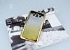 Samsung Galaxy J7 2016 Simli Parlak Gold Silikon Kılıf - Resim 1