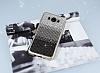 Samsung Galaxy J7 2016 Taşlı Geçişli Siyah Silikon Kılıf - Resim 1