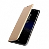 Samsung Galaxy J7 Max Cüzdanlı Yan Kapaklı Gold Deri Kılıf - Resim 1