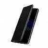 Samsung Galaxy J7 Max Cüzdanlı Yan Kapaklı Siyah Deri Kılıf - Resim 1