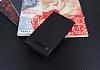 Samsung Galaxy J7 Max Gizli Mıknatıslı Yan Kapaklı Siyah Deri Kılıf - Resim 1