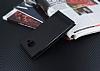 Samsung Galaxy J7 Max Gizli Mıknatıslı Yan Kapaklı Siyah Deri Kılıf - Resim 2