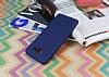Samsung Galaxy J7 Max Mat Lacivert Silikon Kılıf - Resim 2