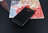 Samsung Galaxy J7 Max Silikon Kenarlı Metal Siyah Kılıf - Resim 1