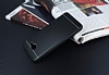 Samsung Galaxy J7 Max Silikon Kenarlı Metal Siyah Kılıf - Resim 2