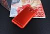 Samsung Galaxy J7 Max Silikon Kenarlı Metal Kırmızı Kılıf - Resim 1