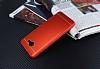 Samsung Galaxy J7 Max Silikon Kenarlı Metal Kırmızı Kılıf - Resim 2