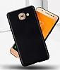 Samsung Galaxy J7 Max Tam Kenar Koruma Siyah Rubber Kılıf - Resim 1
