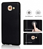 Samsung Galaxy J7 Max Tam Kenar Koruma Siyah Rubber Kılıf - Resim 2