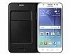 Samsung Galaxy J7 Orjinal Flip Wallet Siyah Kılıf - Resim 1