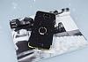 Samsung Galaxy J7 Prime Selfie Yüzüklü Simli Siyah Silikon Kılıf - Resim 1