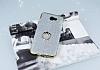 Samsung Galaxy J7 Prime Selfie Yüzüklü Simli Silver Silikon Kılıf - Resim 2
