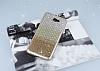 Samsung Galaxy J7 Prime Taşlı Geçişli Gold Silikon Kılıf - Resim 2