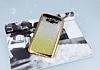Samsung Galaxy J7 Simli Parlak Gold Silikon Kılıf - Resim 1