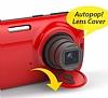 Samsung Galaxy K zoom Orjinal Auto Pop Ultra Koruma Kırmızı Kılıf - Resim 3