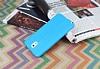 Samsung Galaxy Note 3 Deri Desenli Ultra İnce Mavi Silikon Kılıf - Resim 2