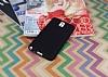 Samsung Galaxy Note 3 Mat Siyah Silikon Kılıf - Resim 1