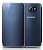 Samsung Galaxy Note 5 Orjinal Clear View Uyku Modlu Dark Blue Kılıf