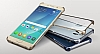 Samsung Galaxy Note 5 Orjinal Metalik Gold Kenarlı Kristal Kılıf - Resim 1