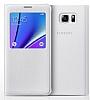 Samsung Galaxy Note 5 Orjinal Pencereli View Cover Beyaz Kılıf - Resim 1