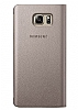 Samsung Galaxy Note 5 Orjinal Pencereli View Cover Gold Kılıf - Resim 3