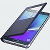 Samsung Galaxy Note 5 Orjinal Pencereli View Cover Siyah Kılıf - Resim 2