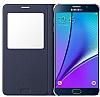 Samsung Galaxy Note 5 Orjinal Pencereli View Cover Siyah Kılıf - Resim 4