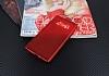 Samsung Galaxy Note 8 Delikli Mat Kırmızı Silikon Kılıf - Resim 2