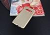 Samsung Galaxy Note 8 Delikli Mat Gold Silikon Kılıf - Resim 3
