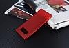 Samsung Galaxy Note 8 Delikli Mat Kırmızı Silikon Kılıf - Resim 1