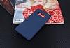 Samsung Galaxy Note 8 Kadife Dokulu Lacivert Silikon Kılıf - Resim 1