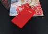 Samsung Galaxy Note 8 Kadife Dokulu Kırmızı Silikon Kılıf - Resim 1