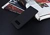 Samsung Galaxy Note 8 Kadife Dokulu Siyah Silikon Kılıf - Resim 1
