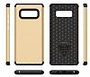 Samsung Galaxy Note 8 Metal Tuşlu Ultra Koruma Gold Kılıf - Resim 3
