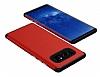 Samsung Galaxy Note 8 Metal Tuşlu Ultra Koruma Kırmızı Kılıf - Resim 1