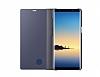Samsung Galaxy Note 8 Orjinal Clear View Uyku Modlu Mor Kılıf - Resim 5