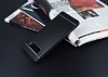Samsung Galaxy Note 8 Silikon Kenarlı Metal Siyah Kılıf - Resim 1