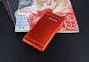 Samsung Galaxy Note 8 Silikon Kenarlı Metal Kırmızı Kılıf - Resim 1