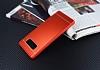 Samsung Galaxy Note 8 Silikon Kenarlı Metal Kırmızı Kılıf - Resim 2