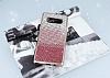 Samsung Galaxy Note 8 Taşlı Geçişli Pembe Silikon Kılıf - Resim 1